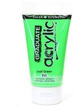 Daler-Rowney Graduate Acrylic Paint (Leaf Green) 3 pcs sku# 1846501MA - $30.84