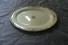 Vintage Edwin M. Knowles China Hostess Shape Victorian Oval Serving Platter - $24.74