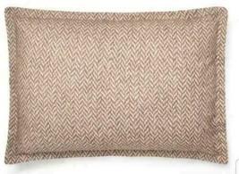 Ralph Lauren Brantley Standard Pillow Sham Brown 100% Cotton MSRP $130 - $49.95