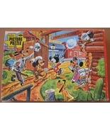 Jigsaw Puzzle 1950s Disney Frontierland Incomplete Craft Item Jewelry - $7.93