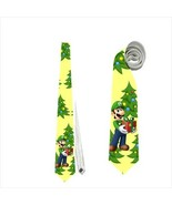 Necktie merry christmas luigi gamer natal costume tie - $22.00