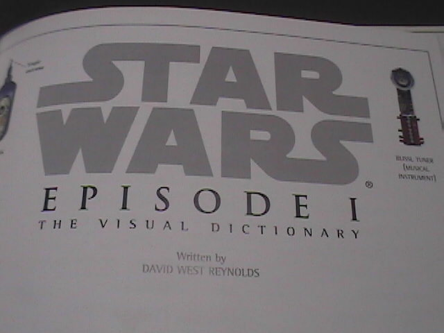 Star Wars Episode 1 Visual Dictionary David West Reynold First American Edition