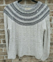 Hollister Sweater S Womens White Silver Long Sleeve Crew Neck Cold Weath... - $12.74