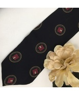 Giorgio Armani Black Print men's silk business tie - $31.95