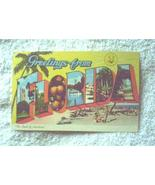 GREETINGS FROM FLORIDA LAND OF SUNSHINE POSTCARD FLA - $6.82