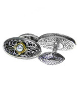 Gerochristo 7115 -  Solid Gold, Silver & Pearls Medieval Byzantine Cuff... - $420.00