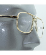 Reading Glasses +1.00 Lens Gold Metal Classic 80's Square Frame Large No... - $15.97