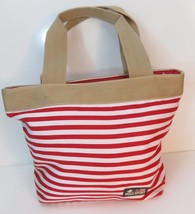 Polo Sport Purse Handbag Summer Beach Bag Red White Tan - $14.80