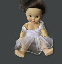 Vtg Uneeda French Ballerina Baby Doll Tutu Girl Brunette Dancer Toddler - $21.77