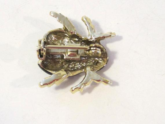 Vintage jewelry rhinestone LADYBUG enamel pin/brooch