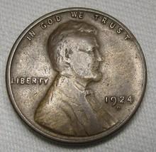 1924-D Lincoln Wheat Cent CH VG Coin AE400 - $37.67