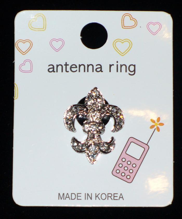 FLEUR DE LIS Cell Phone Antenna Ring