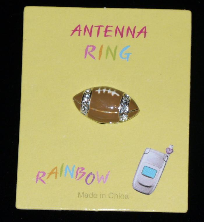 FOOTBALL Cell Phone Antenna Ring