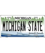 """NCAA Michigan State License Plate State Background Metal Tag  U.S.A."""" Sp... - $12.82"""