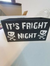 gold canyon candles Teenie Fright Night Pedestal Halloween new decor retired - $18.81