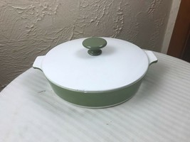 "Vintage Corning Ware Casserole Dish Avocado with Lid 8.5"" P-708 1/2-B 1 Qt RARE - $12.16"