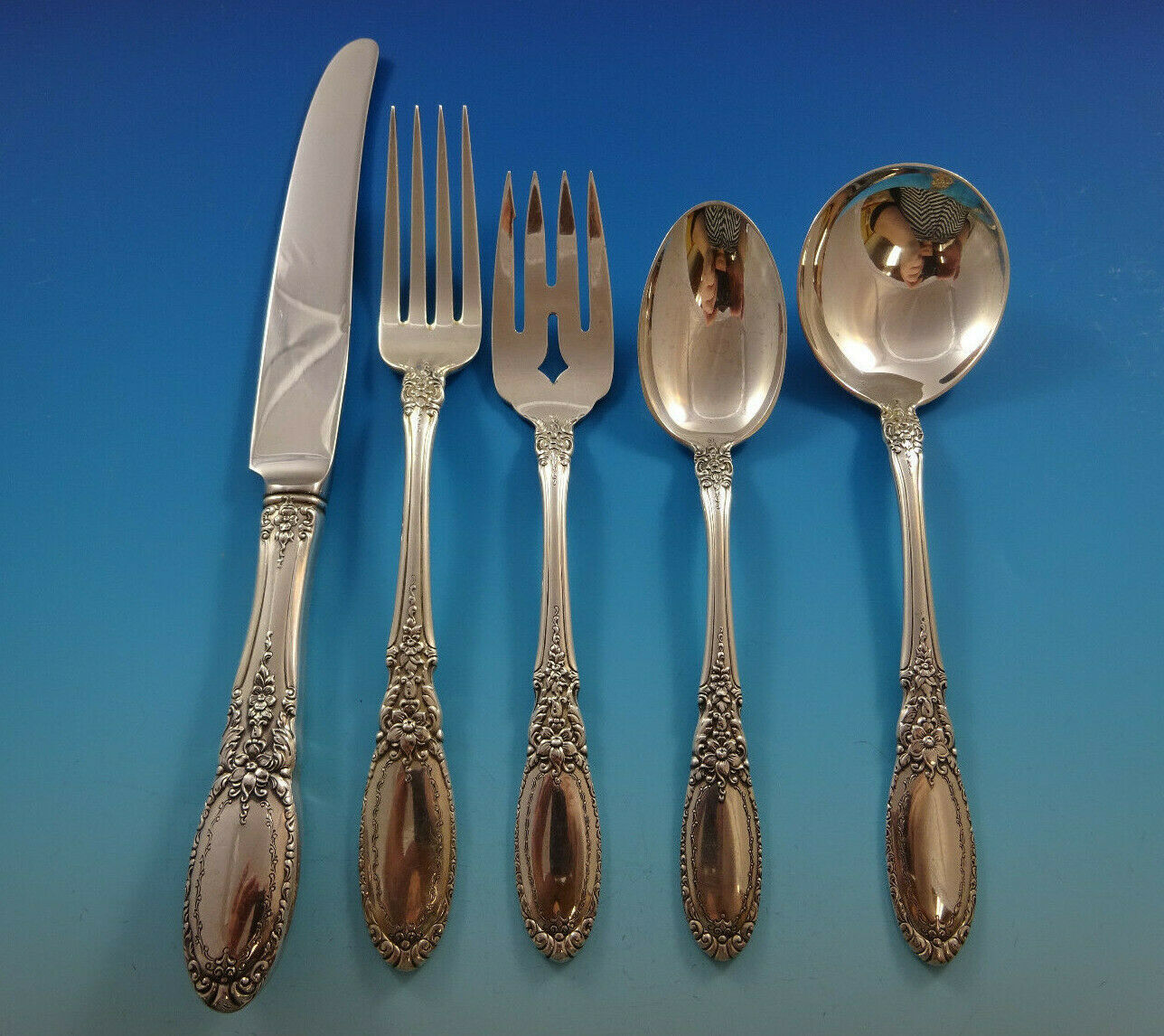 Primary image for Old Mirror by Towle Sterling Silver Flatware Service Set 30 Pieces