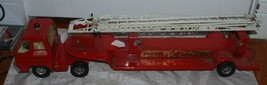 Structo by Ertl Vintage 1970's Hook & Ladder Toy Fire Truck Pressed Steel - $93.49