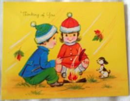 Autumn Joy Religious Thinking Of You Card 1981 New - $2.99