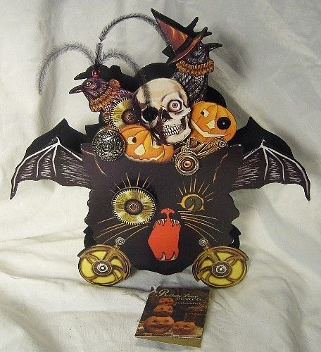 Bethany Lowe J.Steampunk Cat Halloween Container WOW!