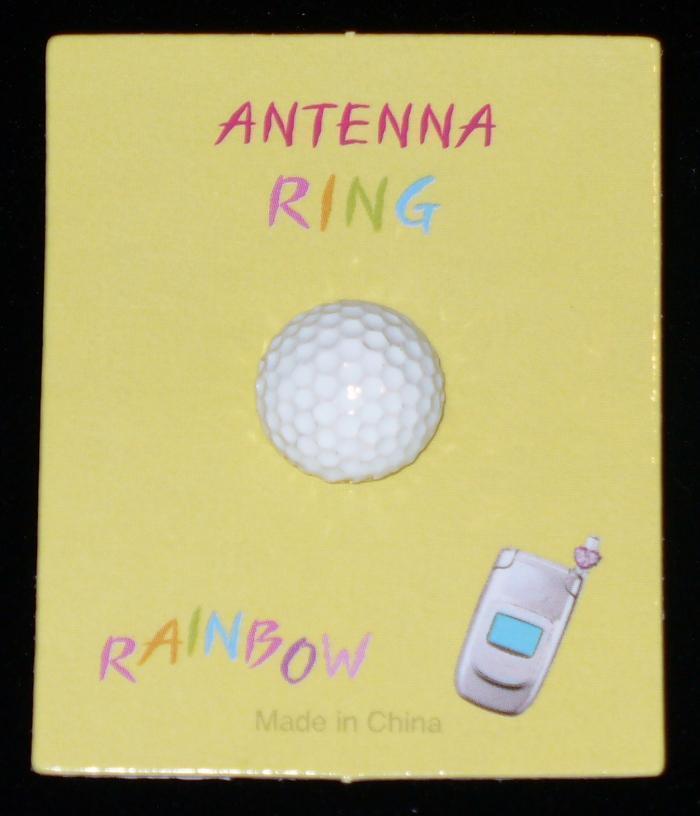 GOLF BALL Cell Phone Antenna Ring