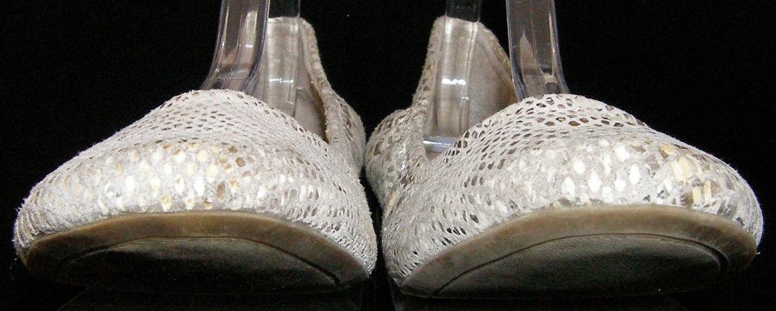 Jessica Simpson 'Angelique' multi-color round toe snake print scrunch flats 8.5B