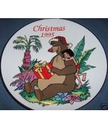 Grolier Jungle Book Christmas Collector Plate 1995 For You Baloo - $16.00