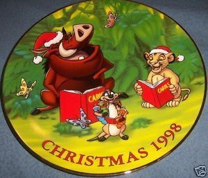 Grolier Lion King LE Christmas Plate 1998 Jungle Bells