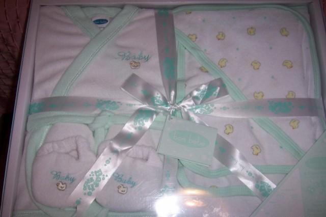 Bon Bebe 5 Piece Bath Gift Set 0-6 Mths Ducks Green NEW