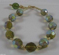 AB Green and Gold Glass Bead Fashion Bracelet - $17.95