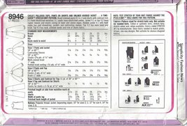 Simplicity Pattern 8946 Child's Tops Pants Shorts and Jacket Sizes 3, 4, 5 Uncut image 2