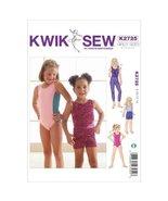 KWIK - SEW PATTERNS K2725 Size 8 - 10 - 12 - 14 Leotards, Leggings and S... - $13.72