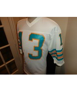 Vtg 80's Authentic Sand Knit #13 Dan Marino Miami Dolphins Screen Jersey... - $49.45