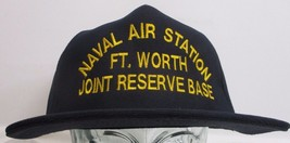 Vtg Naval Air Station Ft Worth Hat U.S Military Official Ball Cap ** Made In Usa - $19.79