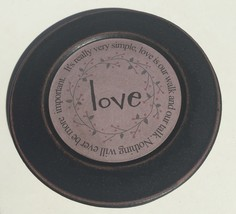 33082L  Wood Plate Love - It's really very simple, love is our walk and... - $10.95