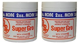 Bronner Brothers Double Strength Super Gro With Vitamin E 6 Ounce Pack of 2