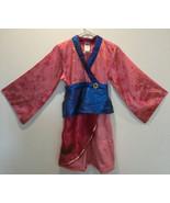 The Disney Store 9-10 Girls Mulan Dress Gown Kimono - $18.69