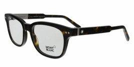 Montblanc Gafas MB0628 052 52MM Havana Oscuro Rectangular Opticals - $118.80