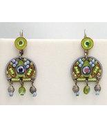 Signed ADAYA Maya Micro Mosaic Earrings - $43.00