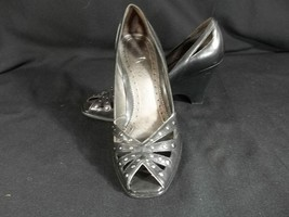 Franco Sarto Peep Toe Pumps Shoes Black 5.5 Leather - $21.73
