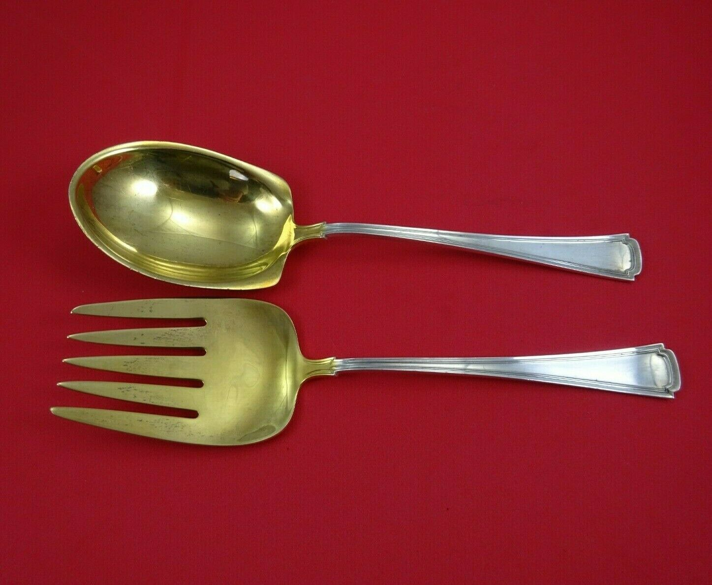 Primary image for Cortland by Lunt Sterling Silver Salad Serving Set 2pc All Sterling GW 8 1/2""