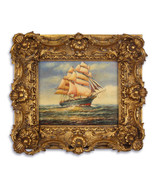 Vintage Oil Painting, Painting in Gold Frame, Elegant Wedding Gift, Anti... - $229.00