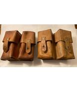 Pair of Original Leather Yugoslavian 59/66 SKS Ammo Pouches - $22.76