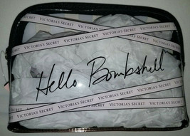 Victoria Secret Hello Bombshell Clear Stripes Makeup Bag Organizer New $24 - $19.80