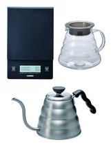 Hario V60 Series Set of Three: Scale, Glass Kettle & Metal Kettle All To... - $115.82