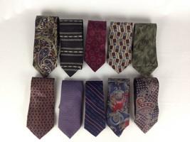 Mens Designer Tie Lot of 10 All Silk Bill Blass Pierre Cardin - $12.97