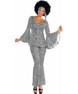 Amscan Dancing Queen Disco 70s Swirl Adult Womens Halloween Costume 844231 - $52.37