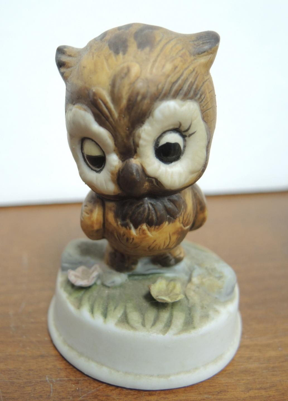 Six Vintage Ceramic Owl Figurines