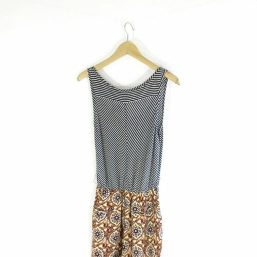 M - Lilka Anthropologie Navy Patterned Contrast Light Jumpsuit Outfit 0000MB