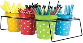 Teacher Created Resources Polka Dot Buckets & Caddy Set, 9487 - $31.90